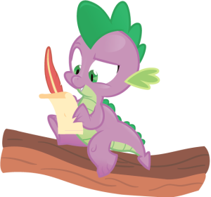 Look! It's a tiny writing dragon! (Picture by jrrhack)
