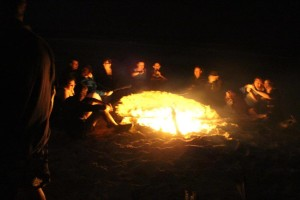 Our bonfire on the beach. The best way to end such a weekend.