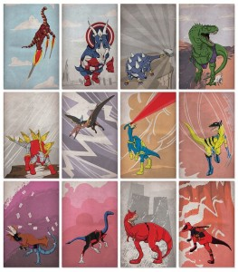 Superheroes and dinosaurs or superhero dinosaurs: the choice is yours! (Picture by Legitimus Maximus)