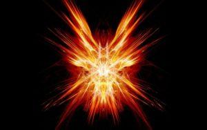 A fiery spark